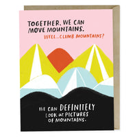 Together We Can Move Mountains Card