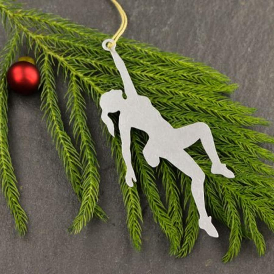Female Rock Climber Ornament