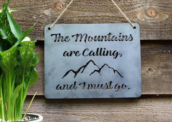 Wall Hanging Mountains are Calling