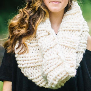 Winter White Chunky Cowl Scarf
