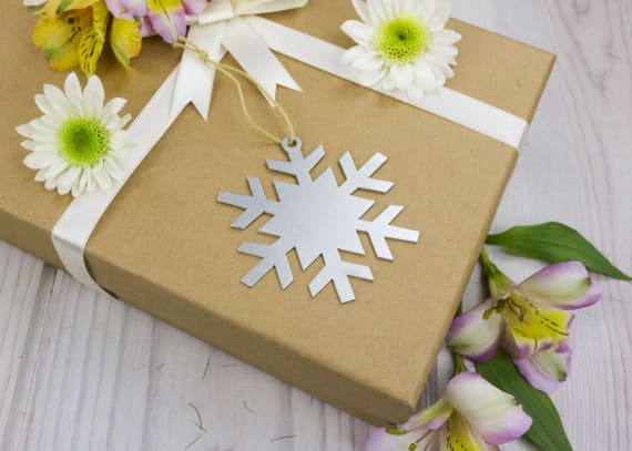 Ornament Snowflake Package Topper