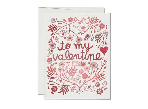 Red Foil Valentine Card