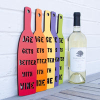 Age Gets Better With Wine Wall Plaque