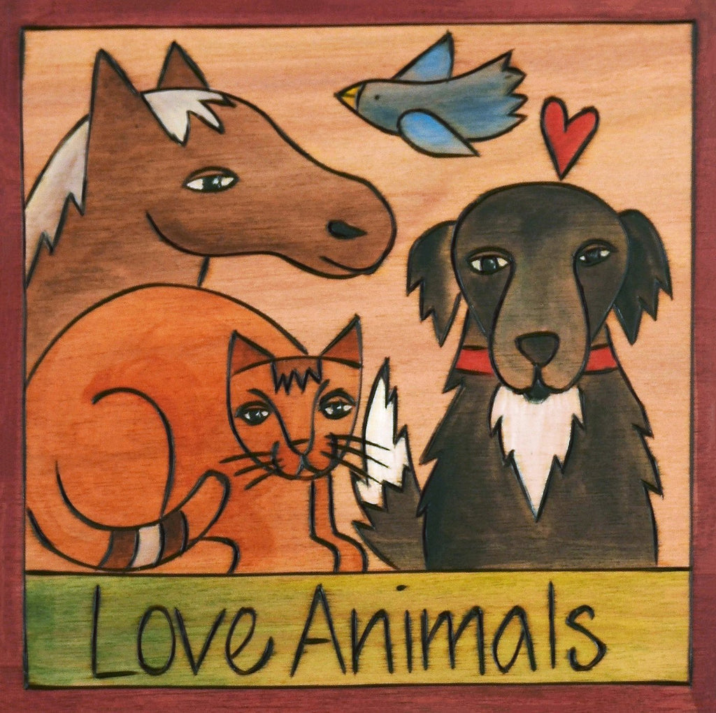All Creatures Great and Small 6x6 Plaque
