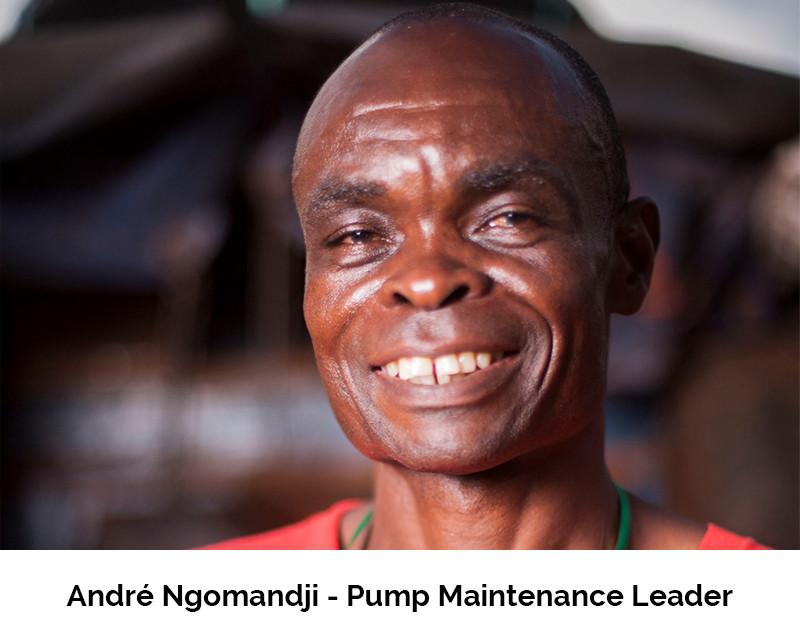 Photo of Andre Ngomadji Pump Maintenance Leader for Water for Good