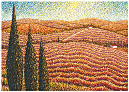 Autumn Vineyard Thanksgiving Card