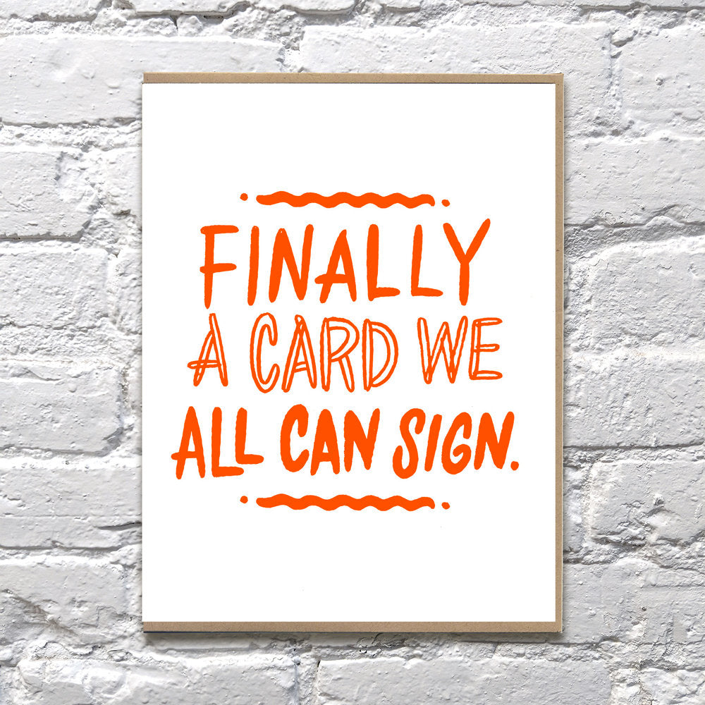 Oversized We Can All Sign Card