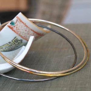 Three Toned Bangle Set