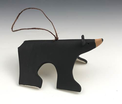 Black Bear Porcelain Ornament