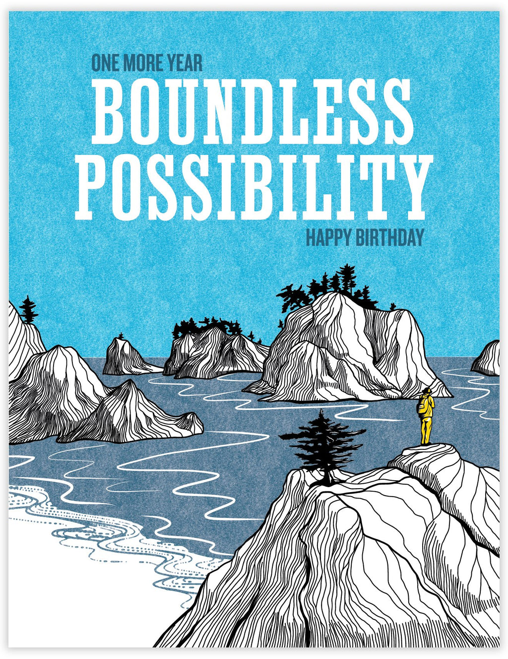 Boundless Possibility Birthday Card for Outdoor Lover