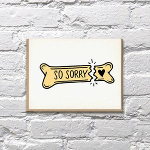 Broken Bone Pet Sympathy Card