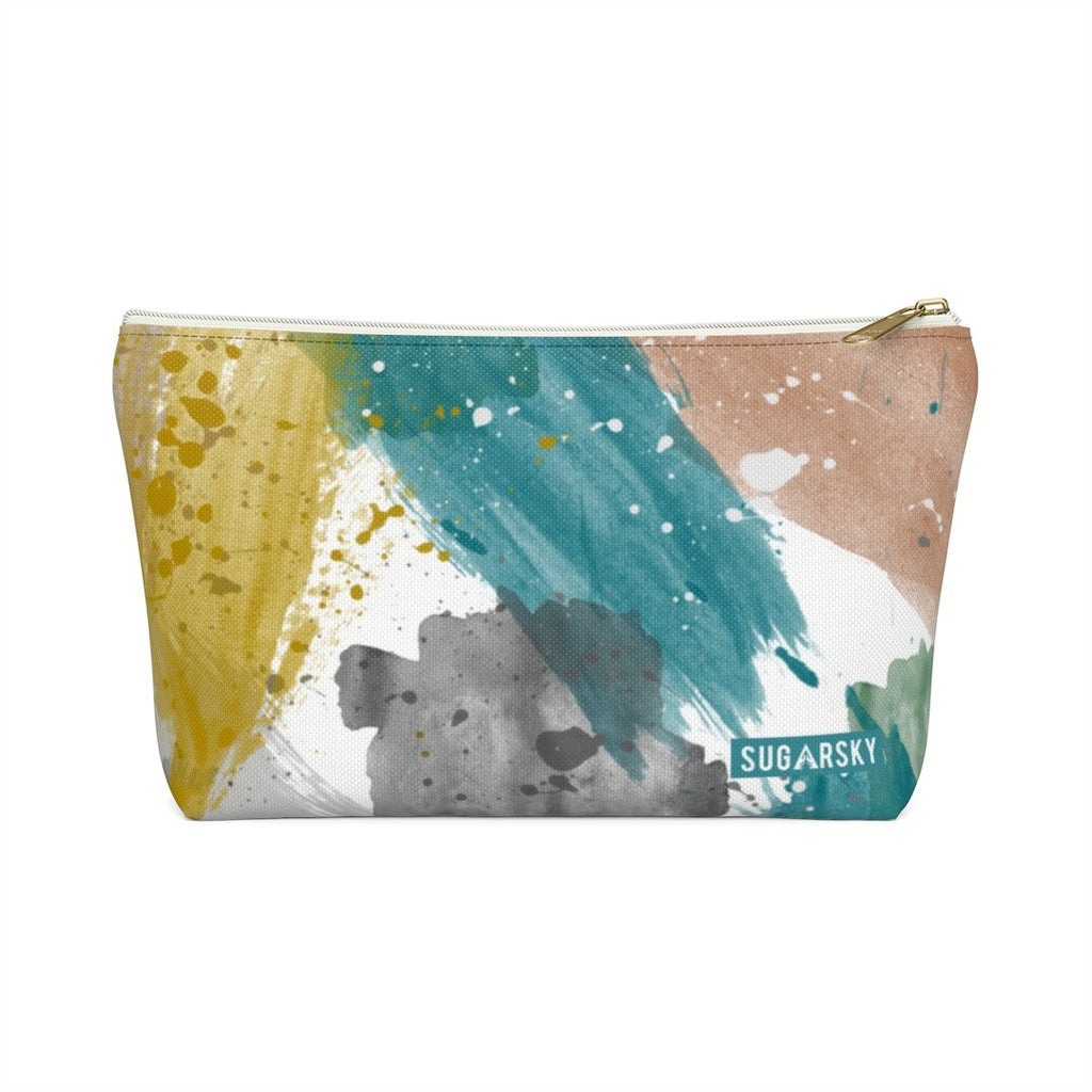 Brushstroke Pattern Zipper Pouch