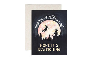 Bewitching Handpainted Halloween Card