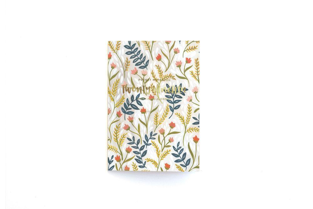 Floral Cover of Meadow Calendar Notebook