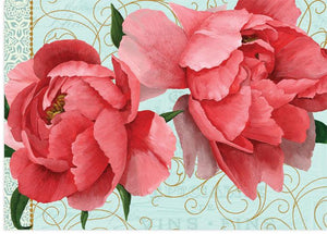 Blank Card With Peony Artwork