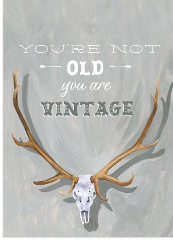 Vintage not Old Birthday Card