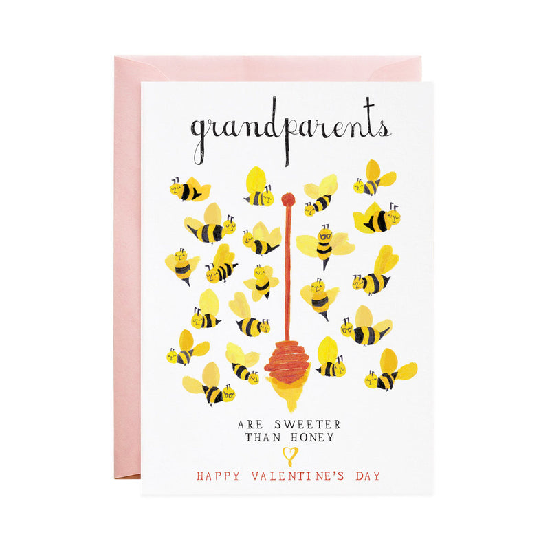 Grandparents are sweeter than honey valentine's day greeting card