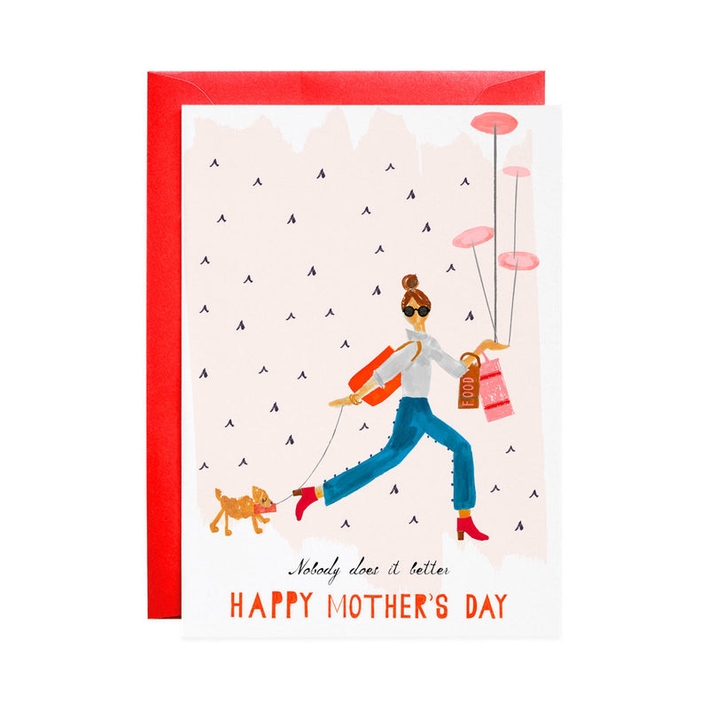 Mom who does it all mother's day card