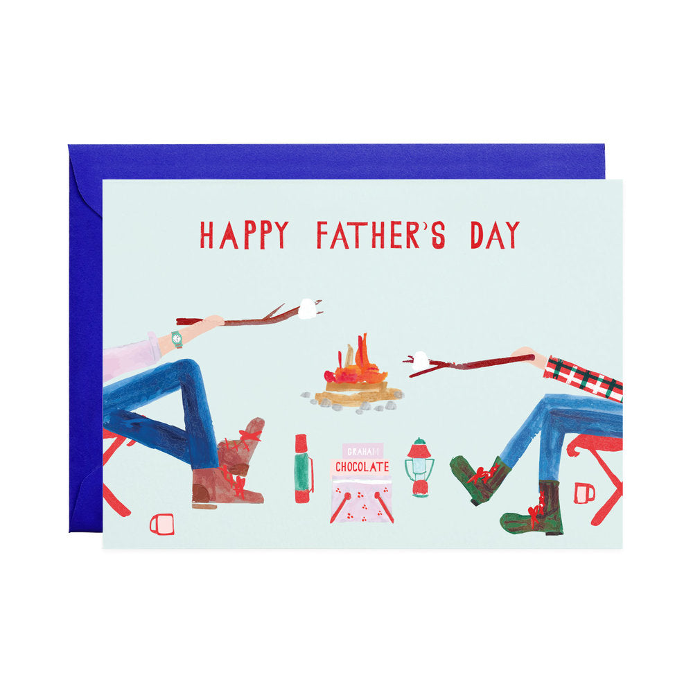 Fire Chat Father's Day Card
