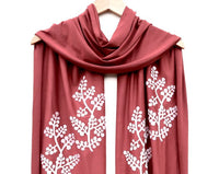 Cedar Scarf with White Berry Print
