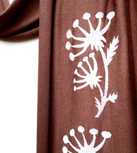 Coco Brown Cotton Scarf