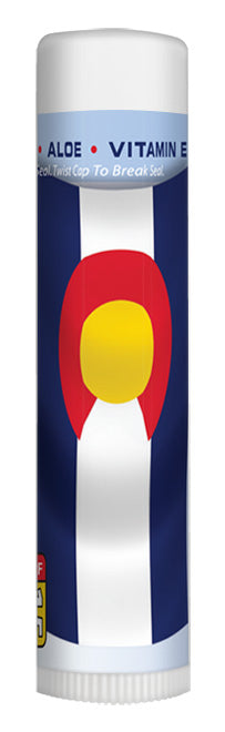 Rocky Mountain Sunscreen Melon Colorado Flag Chapstick