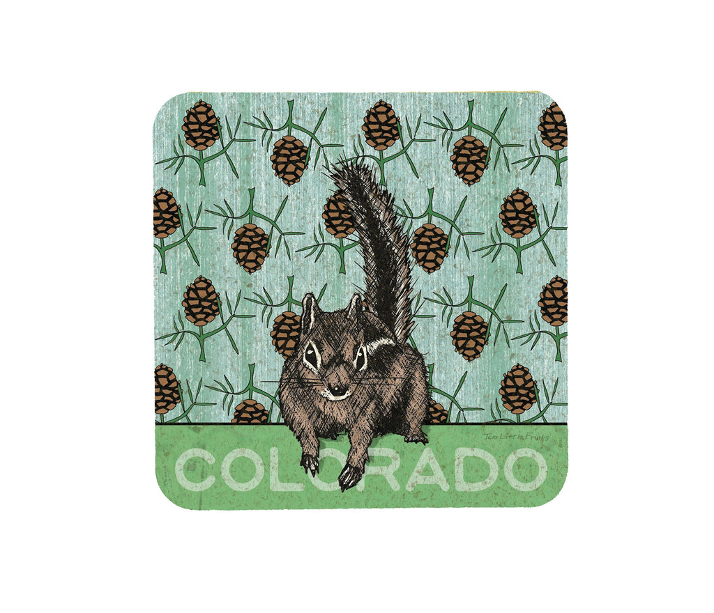 Colorado Squirrel Cork Coasters