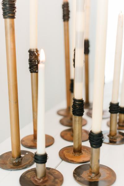 All heights of Prairie Dance Handmade Steel Candle Holders