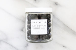 Dark Chocolate Espresso Beans in a Jar
