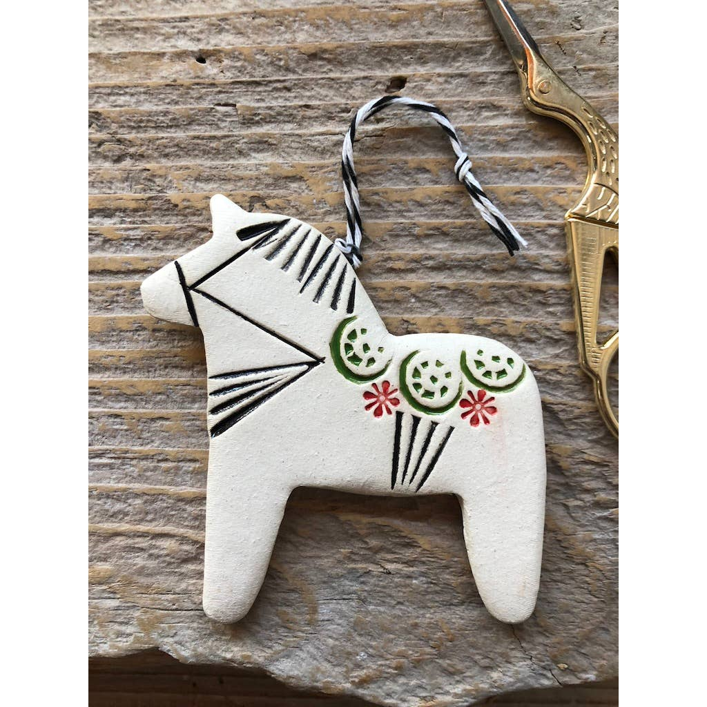 Ceramic Dala Horse Ornament