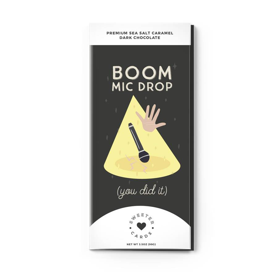 Boom Mic Drop Chocolate Bar and Card