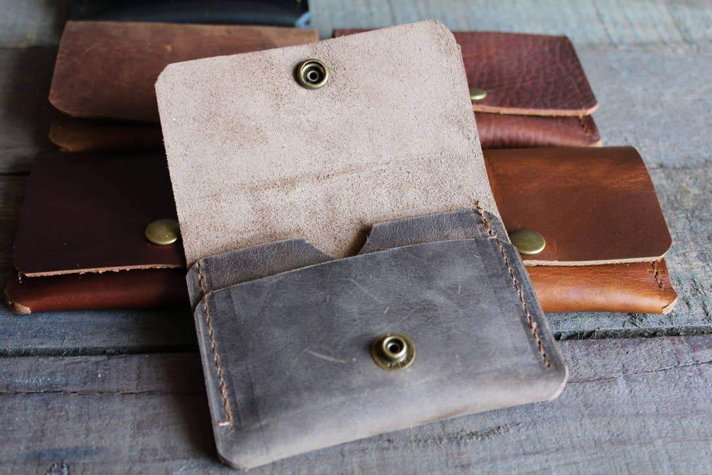 Montana Snap Wallet in Espresso Gray