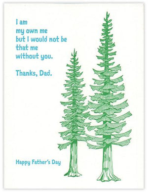 Father's Day Conifer Letterpress Card