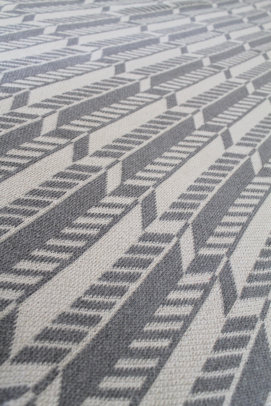 Up Close Shot of Eco Cotton Woven Blanket