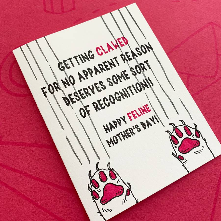 Getting Clawed Cat Mom Mothers Day Card