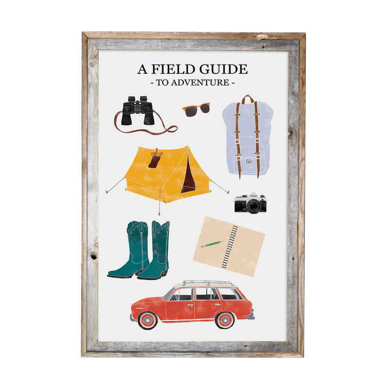 A Field Guide to Adventures 11x17 Print