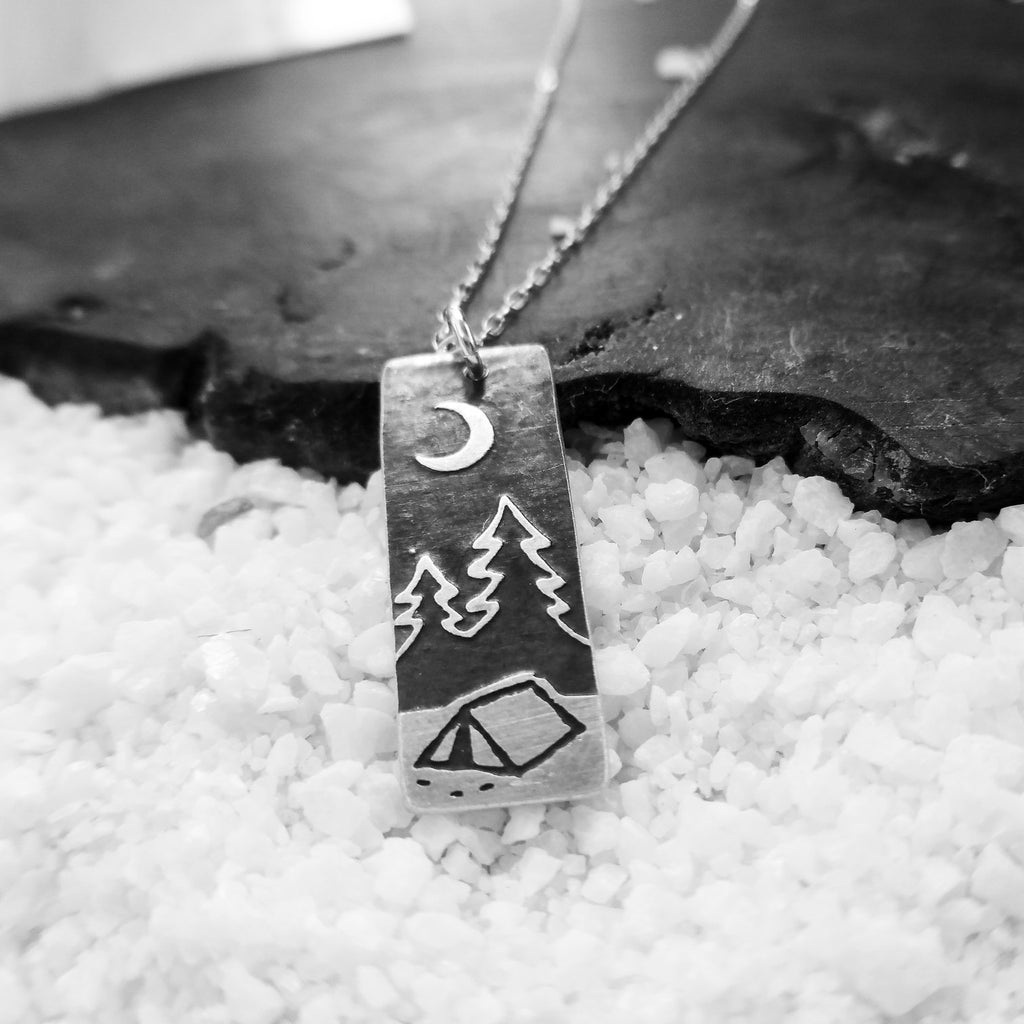 Find Your Path Camping & Mountain Necklace