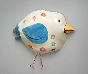 Forget-Me-Not Ceramic Birdie