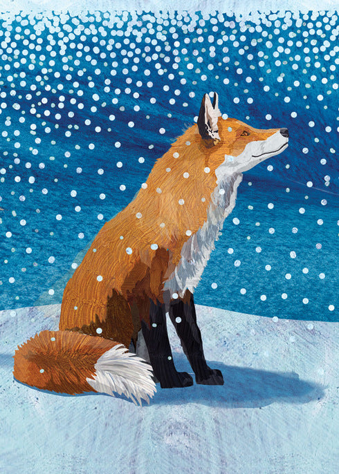 Peace and Joy Fox Holiday Card
