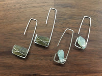 Sterling Silver with Labradorite or Aqua Stones