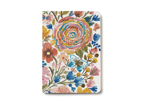 5x7 Unruled Floral Notebook