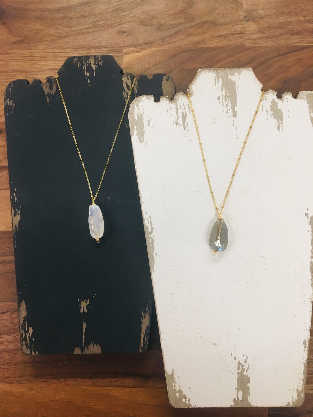 Basic Gem Drop Necklace