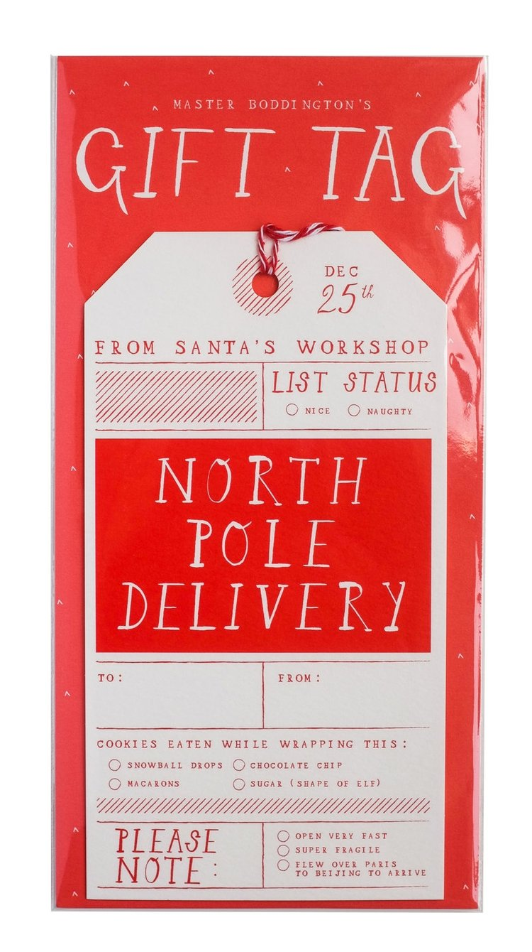 North Pole Delivery Oversized Gift Tag