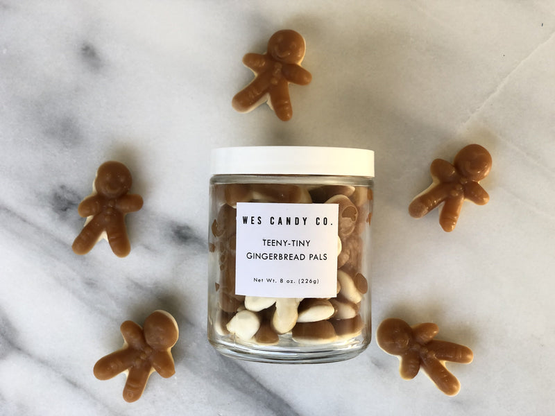 Gingerbread Gourmet Gummies in a Glass Jar