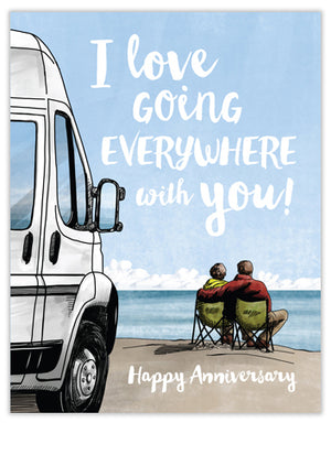 Going Everywhere Anniversary Card