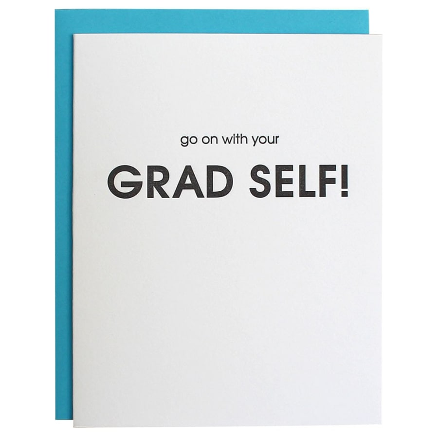 Go On with Your Grad Self Graduation Letterpress Card