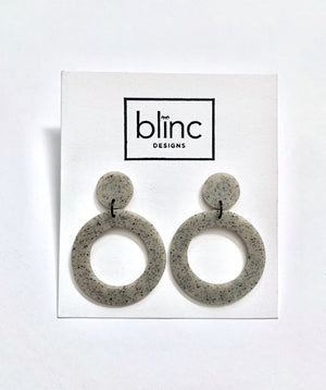 Granite Drop Circle Earrings