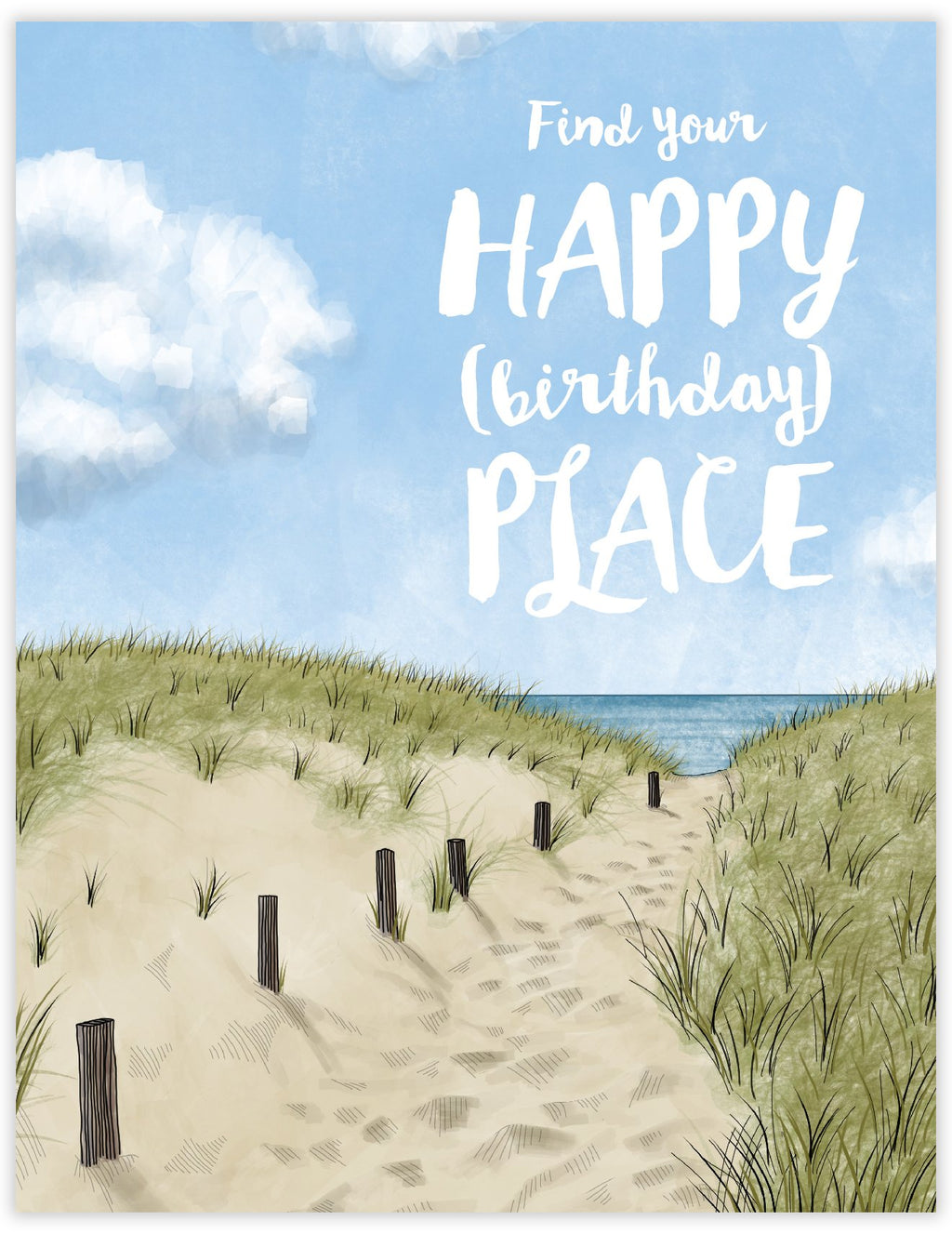 Happy Place Birthday Card