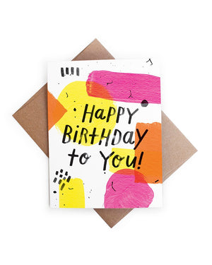 Splatter Paint Birthday Card