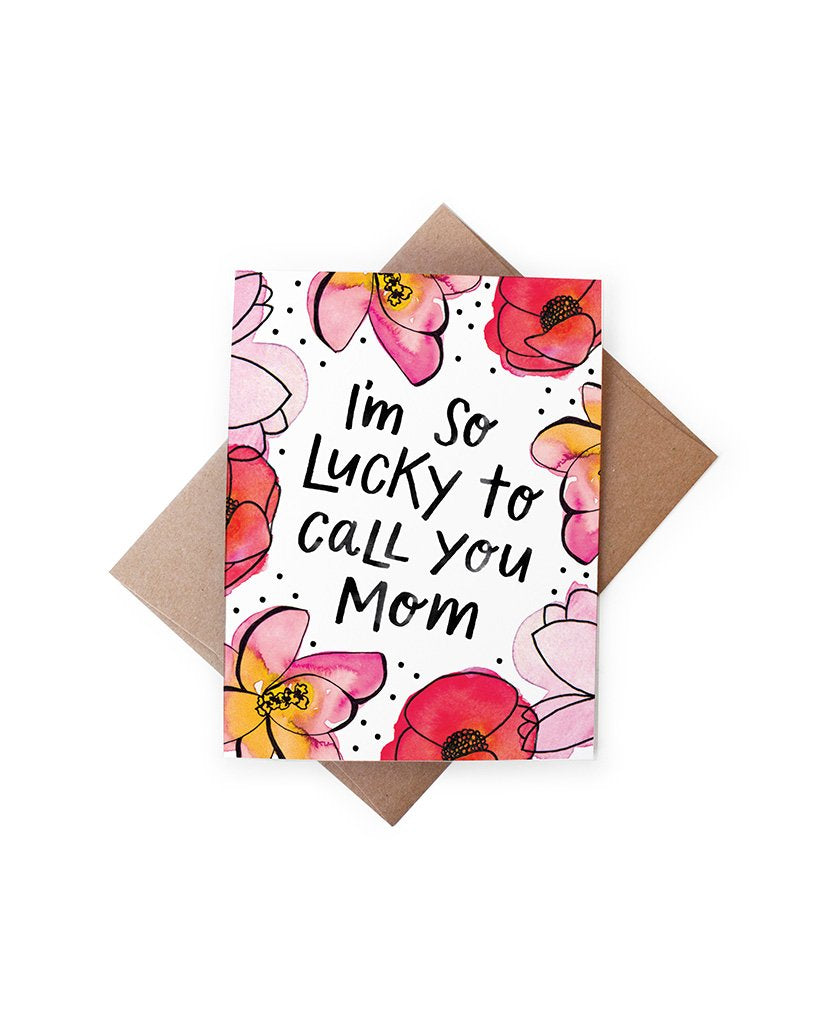 Lucky Mom Mothers Day Card